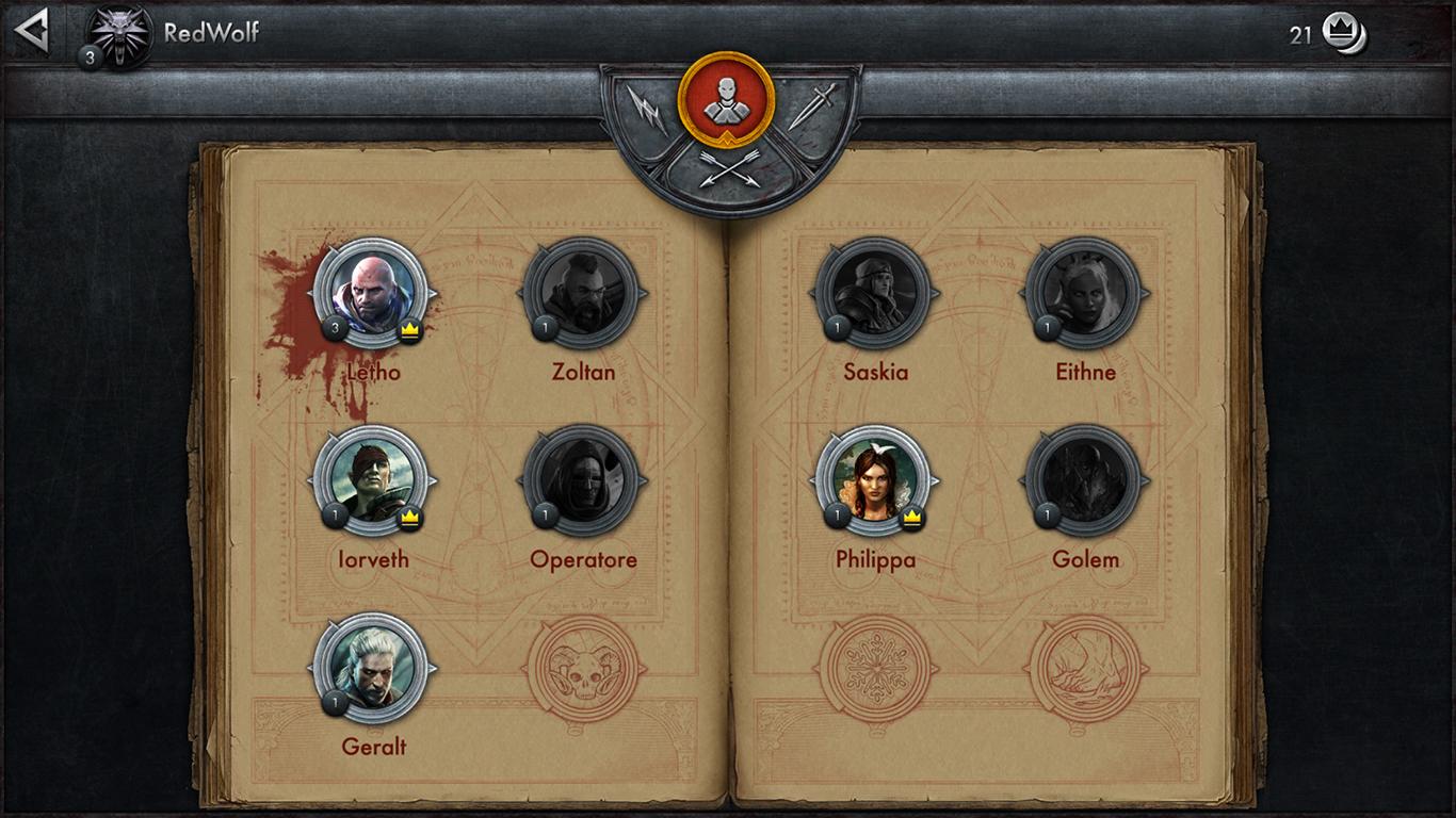 I nove personaggi, quattro di quali selezionabili gratuitamente e uno sbloccato da noi.